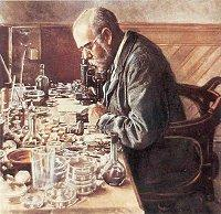 Robert Koch in his Lab